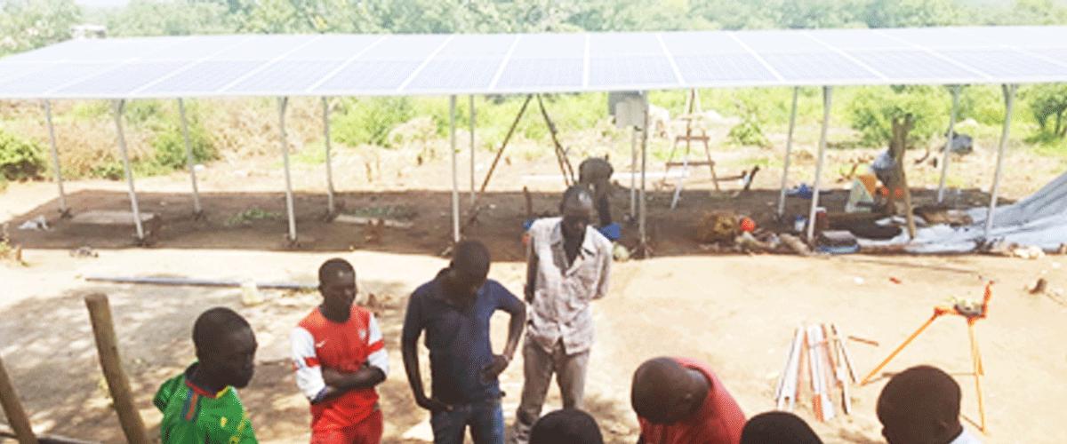 obomoli village pump construction